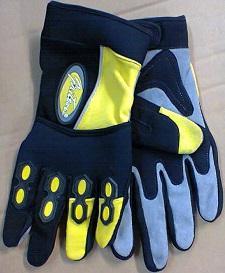 Gants jaune noir hiver