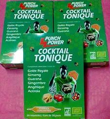 Punch power cocktail tonique
