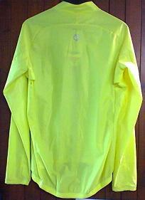 Veste impermeable ondabike jaune fluo vue derriere